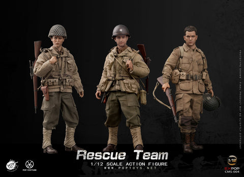 Pre-Order - POPTOYS 1/12 CMS004 WWII US Rescue Squad Captain/Shooter/Soldier (3 Figure Set)