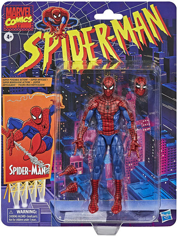 "Marvel Legends Retro Spider-Man 6"" Figure"