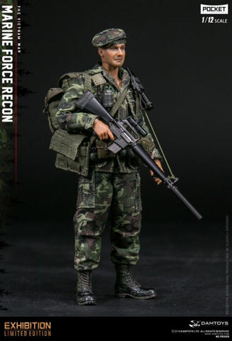 New In Stock! DAMTOYS 1/12 Pocket Elite Series - Marine Force Recon Vietnam PES009