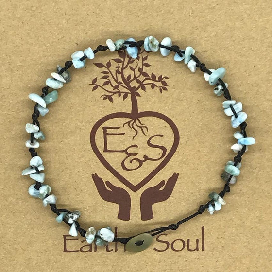 Amazonite Crystal Anklet