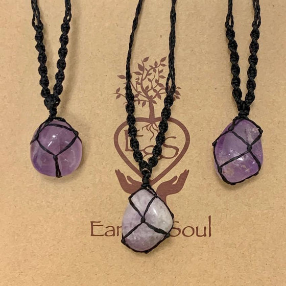 Amethyst Polished Crystal Necklace