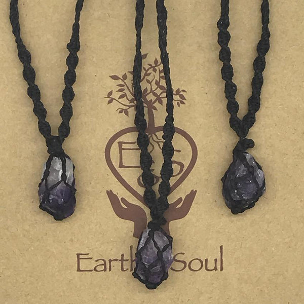 Amethyst Crystal Necklace - Small