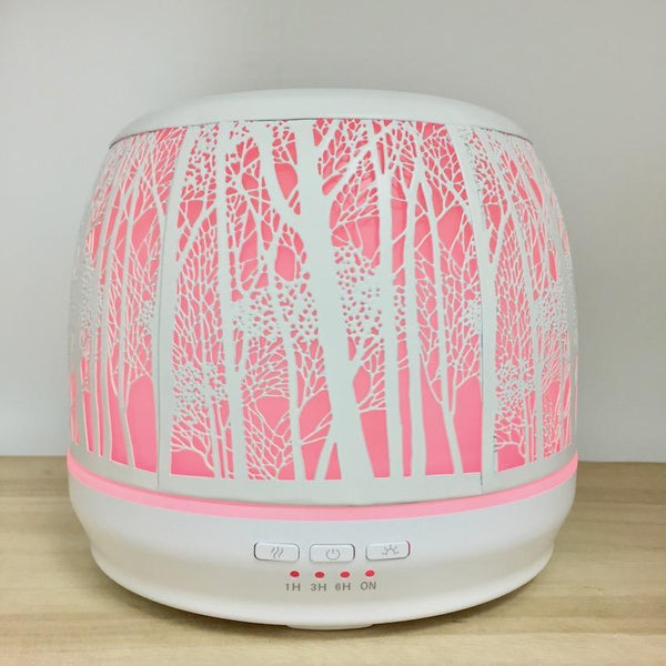 Aroma Diffuser Lantern - White Large 500ml pink light