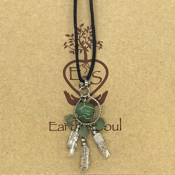 Aventurine Crystal Dreamcatcher Necklace