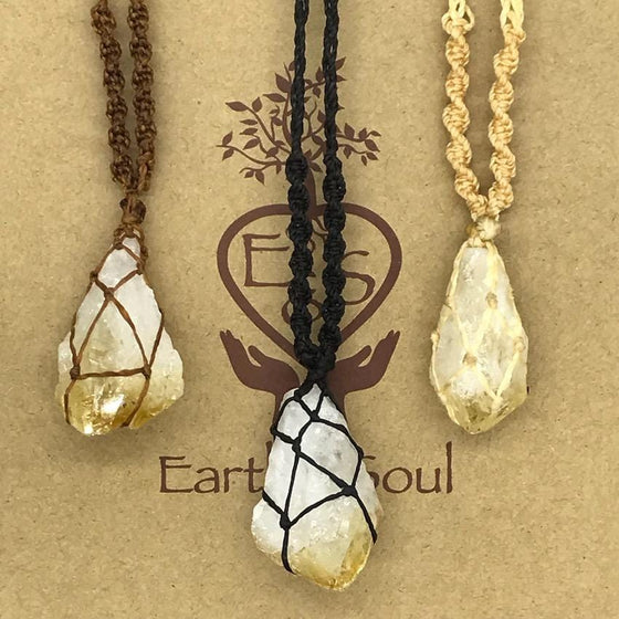 Citrine Crystal Necklace - Medium