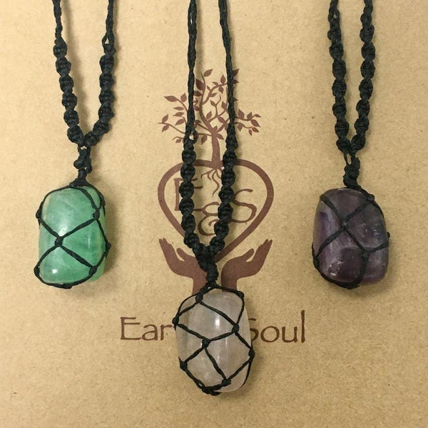 Fluorite Polished Crystal Necklace