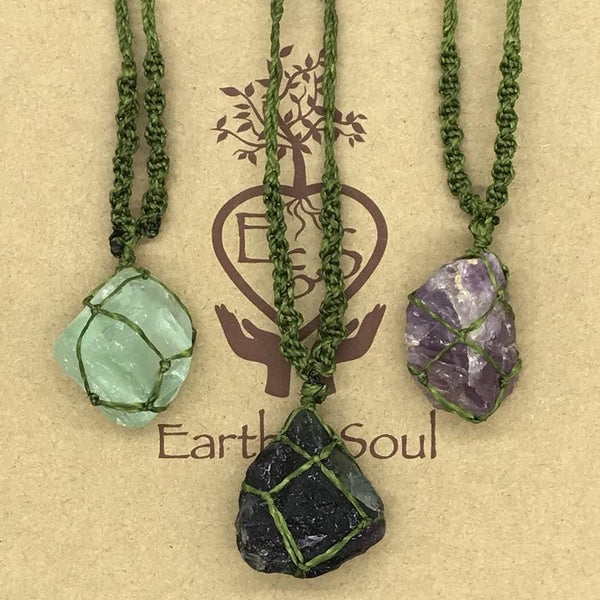 Fluorite Crystal Necklace - Green