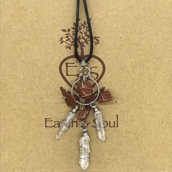 Goldstone Crystal Dreamcatcher Necklace