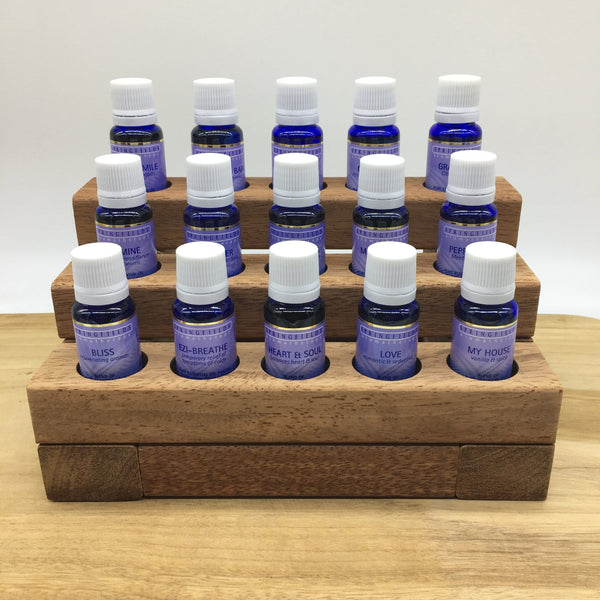 wooden essential oil stand 15 hole springfields demo