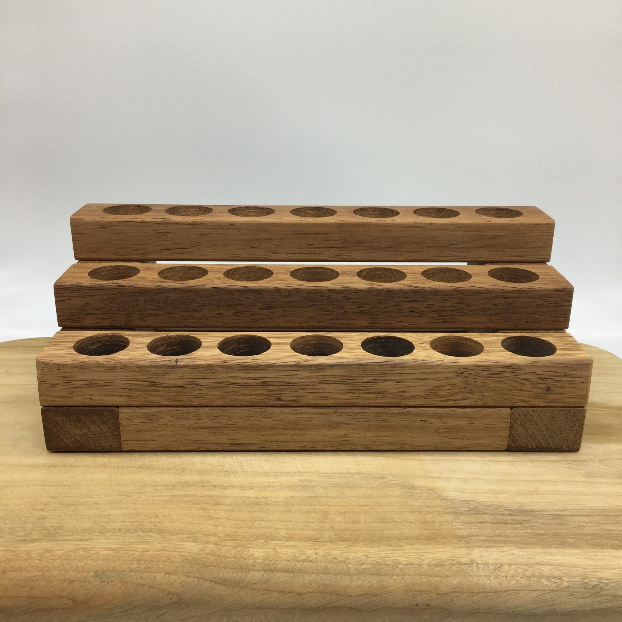 wooden essential oil stand 21 hole