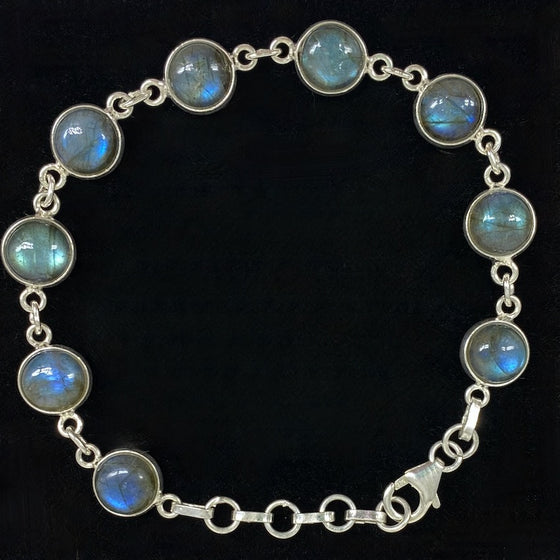 Labradorite Polished Crystal Bracelet 8mm