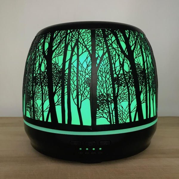 Aroma Diffuser Lantern - Large 500ml Green Light