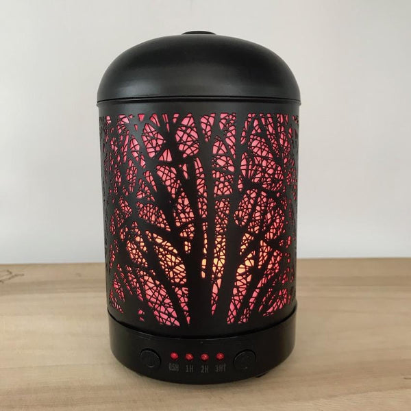 Aroma Diffuser Lantern - Willow Red Light
