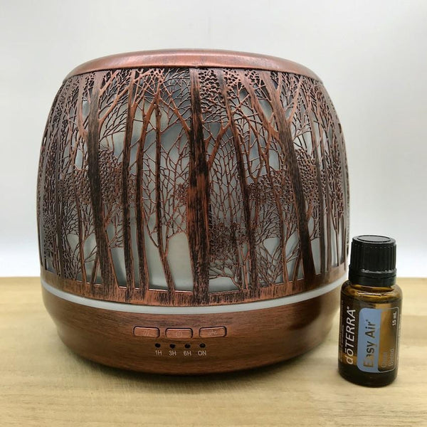 Winter Combo Lantern Large Brushed Bronze & doTERRA Easy Air