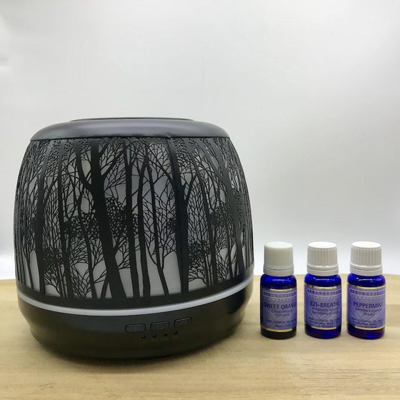 Winter Combo Lantern Large 500ml Black & Springfields Essential Oils