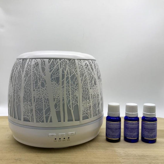 Winter Combo Lantern Large 500ml White & Springfields Essential Oils