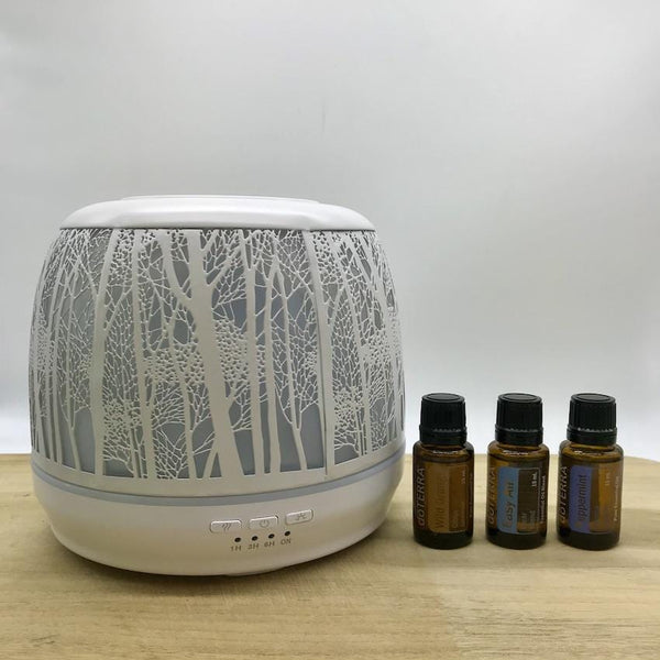 Winter Combo Lantern Large White & doTERRA Essential Oils