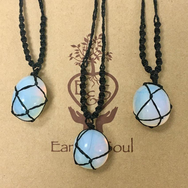 Opaline Polished Crystal Necklace