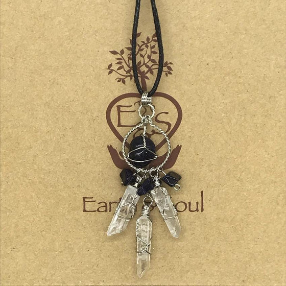 Starstone Crystal Dreamcatcher Necklace