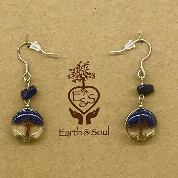 Tree of Life Drop Earrings - Starstone