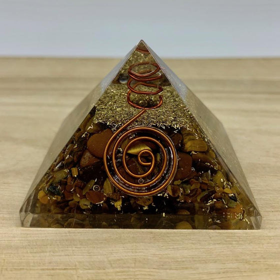 Orgonite Pyramid - Tiger Eye