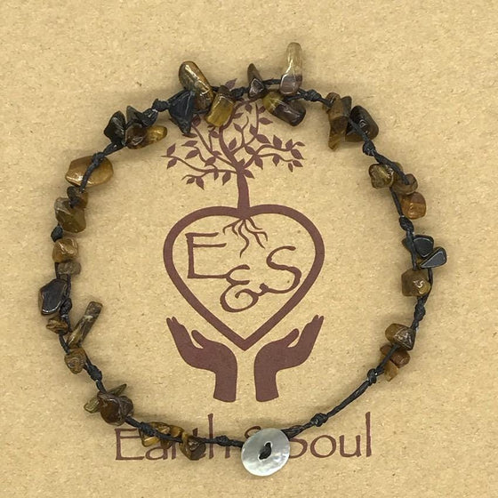 Tiger Eye Crystal Anklet