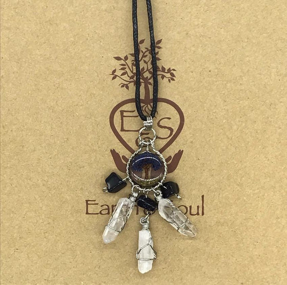 Tree of Life Dreamcatcher Necklace - Starstone