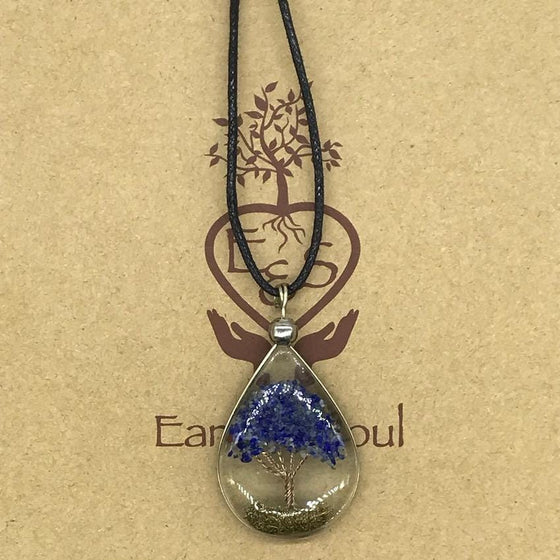 Tree of Life Pendant Necklace - Sodalite