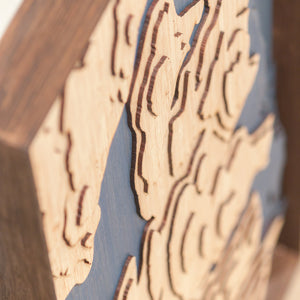 bainbridge island topographic wood map angle
