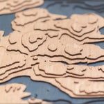bainbridge island topographic wood map depth