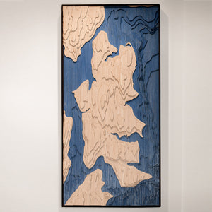 bainbridge island topographic wood map full
