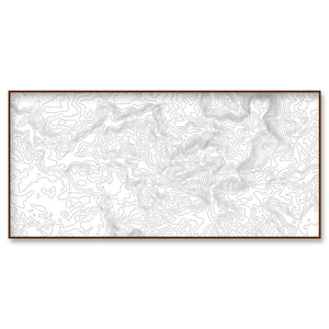 custom location topographic map landscape 30x15