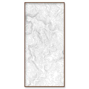 custom location topographic map portrait 15x30