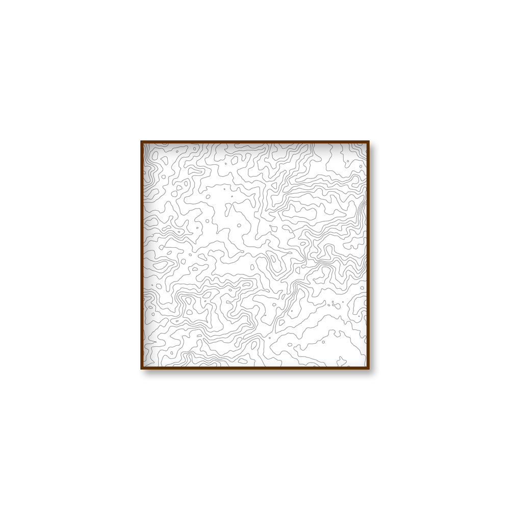 custom location topographic map square 15x15