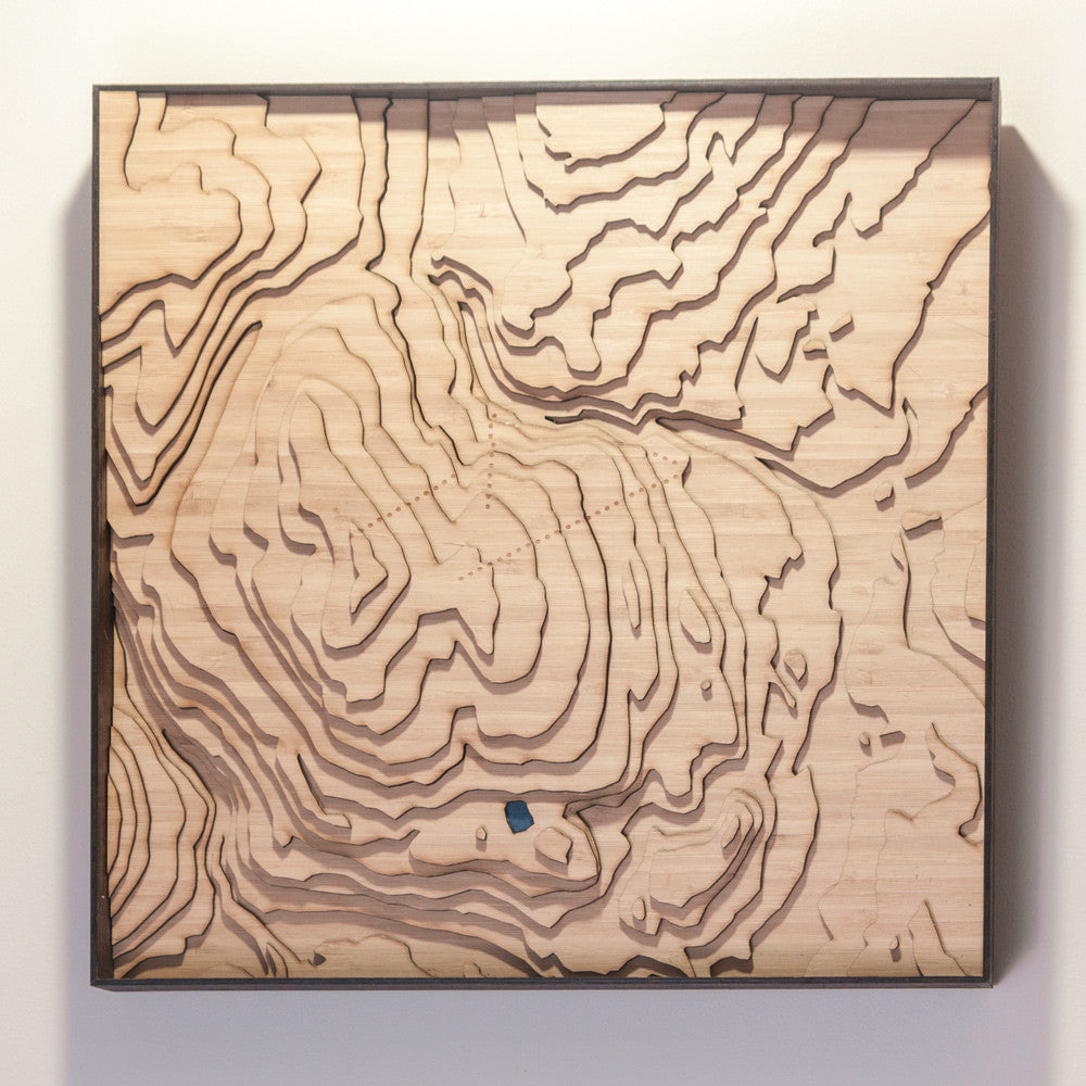 kimberley bc topographic wood map full