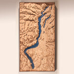 okanagan lake custom topographic map full