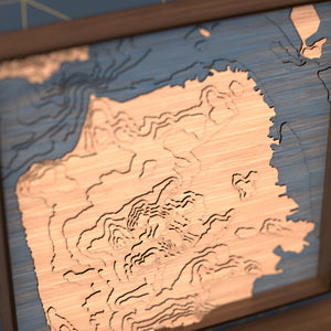 san francisco topographic wood map angle