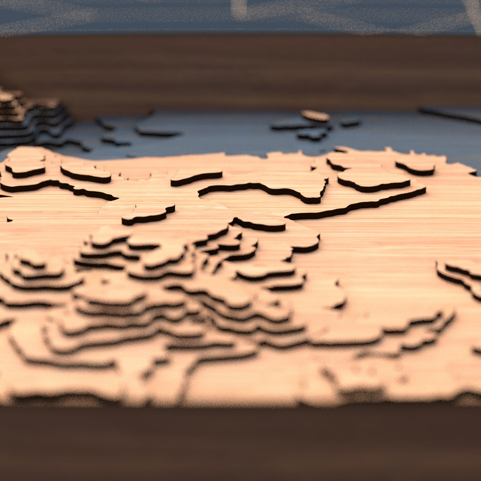 san francisco topographic wood map depth