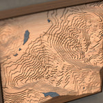 whistler blackcomb topographic wood map angle