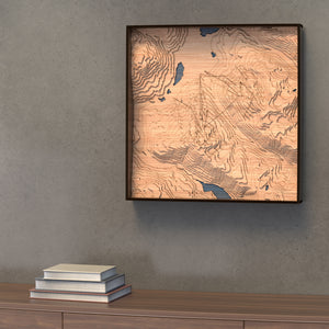 whistler blackcomb topographic wood map styled