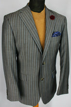 Load image into Gallery viewer, Grey Lightweight Blazer Tommy Hilfiger Pinstripe 40R SUPERB QUALITY 3000