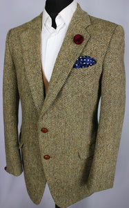 Harris Tweed Jacket Blazer Brown Oatmeal 42R AMAZING QUALITY 3526