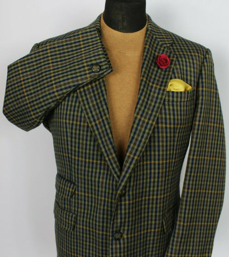 DAKS Signature Jacket Blazer Brown Country Check 44S SUPERB QUALITY 3778