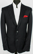 Load image into Gallery viewer, Dolce Gabbana Blazer Jacket Black Pinstripe Lightweight 38R SUPERB QUALITY 3352