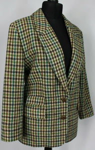 Harris Tweed Jacket Country Check UK 14 BEAUTIFUL JACKET 3365