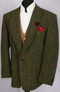 Harris Tweed Blazer Jacket Green Paul R Smith 46R AMAZING VIBRANT COLOURS 3337