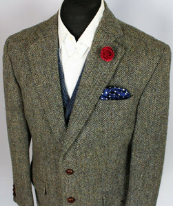 Harris Tweed Blazer Jacket 42S FANTASTIC COLOUR TWEED 3784