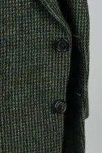 Load image into Gallery viewer, Harris Tweed Jacket Blazer Green Blue Wedding 44R AMAZING QUALITY 2519