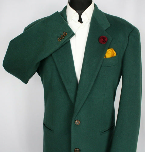 Hugo Boss Blazer Jacket Green Wool Cashmere Designer 44R EXCEPTIONAL 3650