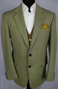Green Jacket Blazer Brooksfield 40R WOOL & CASHMERE ITALIAN MADE 3528